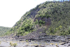 Rock slides caused by earthquakes. Photo
