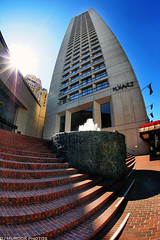 Hyatt DT San Francisco- Explored (dj murdok photos) Tags: sanfrancisco vertical sony fisheye hyatt richcolors djmurdokphotos
