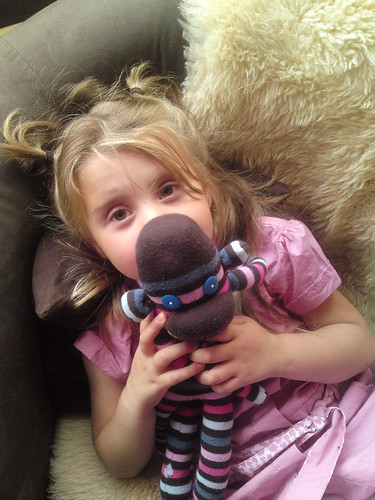 Grace and Fred the Sock Monkey