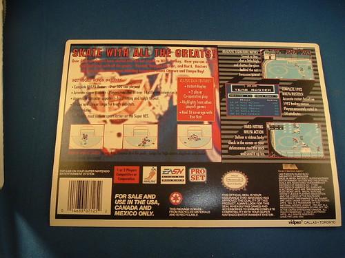 NHLPA Hockey '93 (Electronic Arts) - SNES VidPro Card