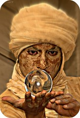 The fortuneteller with the crystal ball