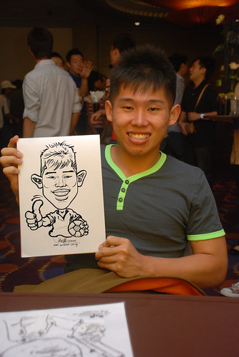 Caricature live sketching for Standard Chartered Bank - 1