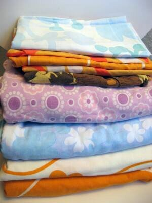 vintage sheets and pillow covers