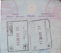 Spain Entry Stamp Melilla (mlcastle) Tags: espaa netherlands amsterdam spain nederland stamp passport schiphol melilla schengen passportstamp