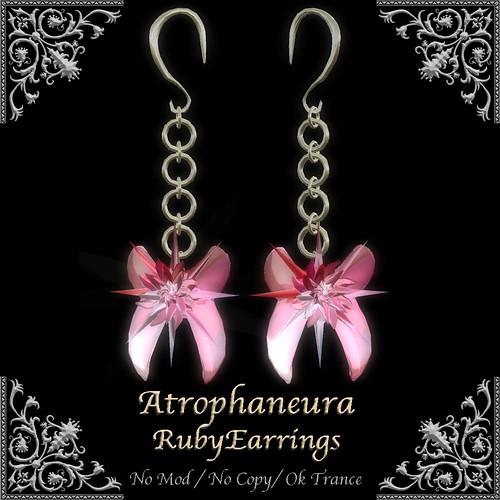 AtrophaneuraRubyEarrings