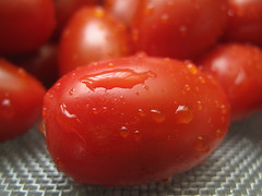 Snack tomatoes washed