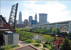 revitalization along Cleveland's riverfront (by: Ohio DNR via NOAA)
