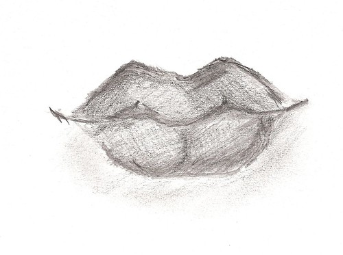 features study (mouth) - graphite