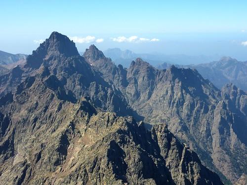 Sommet de la Punta Minuta : la Grande Barrière vers Paglia Orba et Tafonatu