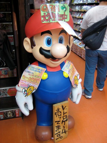 Mario Statue in Super Potato, Osaka