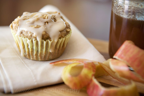 Low-Fat Apple Spice Walnut Muffins