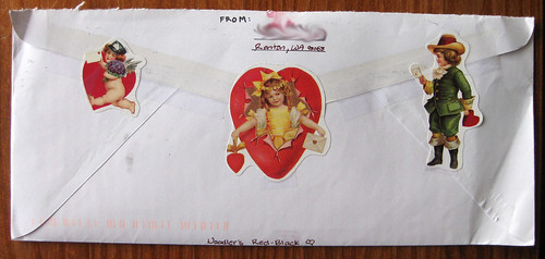mail-themed valentine stickers