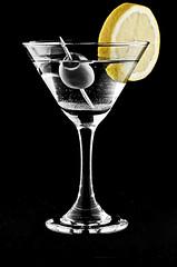 Vodka Martini (geishaboy500) Tags: art glass bar design lemon graphics drink olive martini alcohol vodka