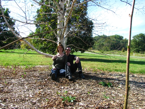 Rob, Me, and a birch tree
