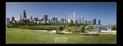 Chicago (Wizum) Tags: park city chicago skyline architecture marina buildings aquarium illinois cityscape waterfront view pano panoramic planetarium photostitch