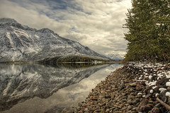 My Pathway (Vinnyimages) Tags: mountain lake canada reflection canon nationalpark tripod glacier alberta canon5d hdr watertonlakes waterton parkscanada photomatix watertonlakesnationalpark singhray middlewatertonlake vimypeak lbwarmingpoparizer vinnyimages wwwvinnyimagescom vinnyimagescom