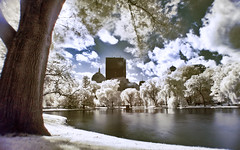 Boston Common in Infrared (Werner Kunz) Tags: world city trip travel trees winter cambridge sea vacation urban usa white lake holiday water boston skyline america photoshop river ma us nikon massachusetts north newengland wideangle center stadt infrared northamerica 40 ultrawide hdr werner beantown metropole hoya skyscrapper r72 kunz photomatix 20fav explored colorefex nikond90 bostoncomon topazadjust werkunz1