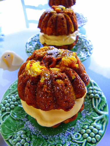 Trick Or Treat - Pumpkin, coconut and pineapple cakelets