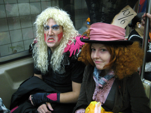 Dee Snyder and Mad Hatter on a train