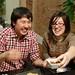 Alan Nguyen and Rachel Mercer pig out over duck lardons