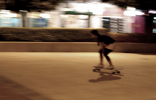 Longboarding at Bonifacio High Street