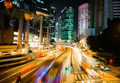 Colorful night (samthe8th) Tags: color hongkong traffic sam smooth tram hong lighttrails conrad wmp centralhongkong admiralty mtr bankofchina pacificplace glide queensroad conradhotel lippocenter explored flickrchallengegroup flickrchallengewinner d90night kongd90night explored20091117 shmedal fcgdone
