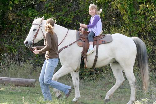 Cassie on horse