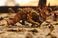 Giant Spined Chaos Beast at Warhammer Games Workshop Games Day 2009 (Steve Greaves) Tags: show sculpture brown detail animal monster closeup dark toy soldier army spiky miniature dangerous model war display grim teeth awesome alien bad evil battle mini exhibition plastic 40k future ugly figure british sciencefiction kit nightmare monstrosity battlefield resin horrible aggression spines creature powerful modelling awful 2009 spikes wargame nasty freakish enemy tusks warhammer40000 brute monstrous detailed flayed gamesworkshop sculpt warlike wargaming nightmarish aggresive horrendous gamesday baddie brutish forgeworld citadelminiature nikond300 nikon18200mmf3556gifedafsvrdx giantspinedchaosbeast siegeofvraks