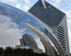 Chicago skyline (JuttaMK) Tags: park chicago architecture millenium bubble cloudgate mauekay