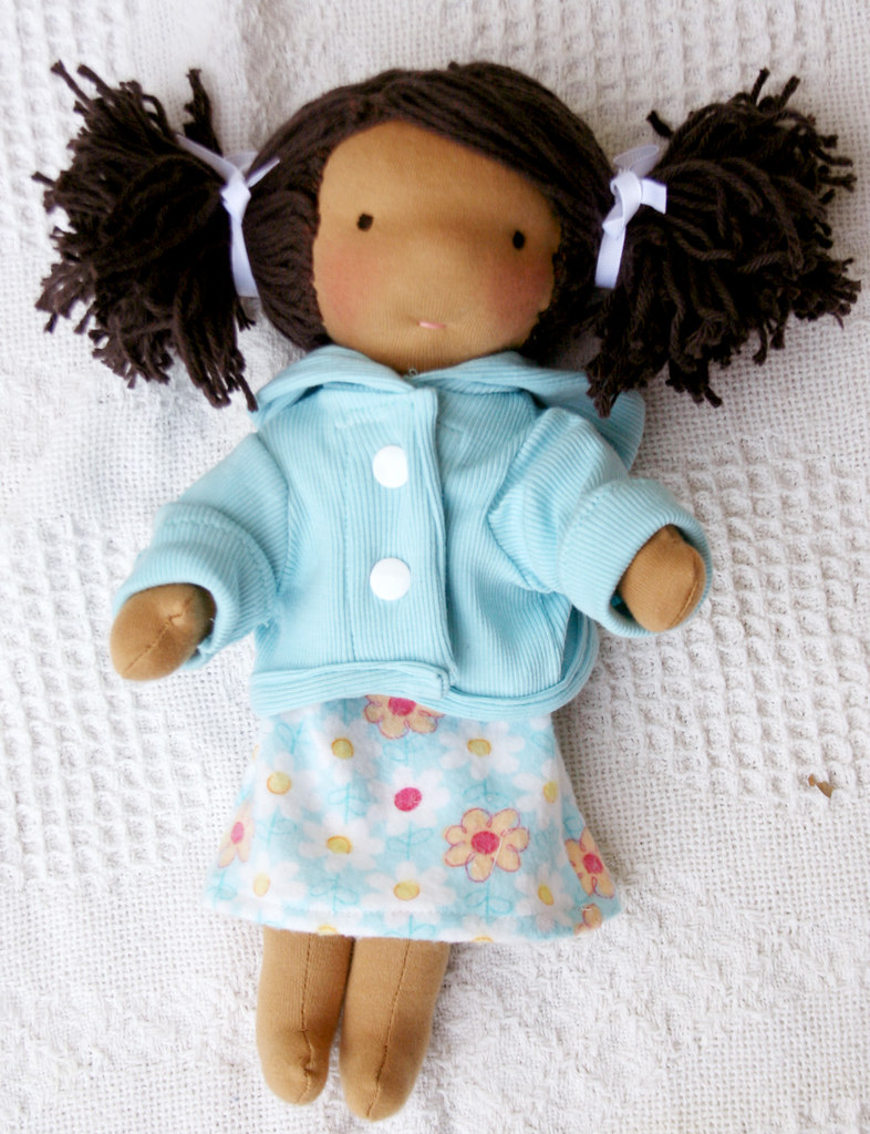 "12"" mocha skin tone waldorf doll"