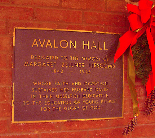 Avalon Hall Plaque