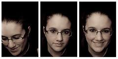 Anna (Photofidelity) Tags: light portrait woman girl smile three nikon warm triptych nikond700 nikonsb900