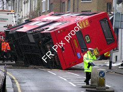 3073-05 (FR Pix) Tags: road york london buses fire traffic crash accident ambulance service battersea plough brigade collision overturned sw11