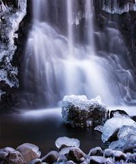 Frostings (skarpi - www.skarpi.is) Tags: blue winter lake cold ice water rock stone river frozen waterfall iceland frost stones foss kalt sland vetur wintertrip s kuldi blr frostings vetrarmynd hjpur