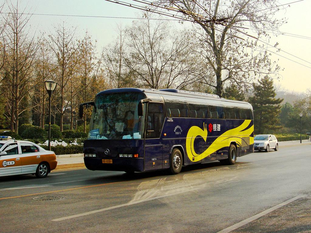 [Coaches in Beijing]?????? North Neoplan BFC6120-2DBA ?? Yinjian #80877 Front-left at Liangguochang