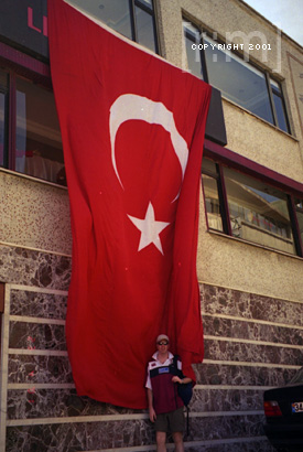 A giant Turkish Flag