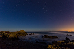 Pebble Beach Stars (andreaskoeberl) Tags: ocean california sky seascape night stars coast lowlight nikon rocks shadows pacific pebblebeach 1020 starrynight sigma1020 d7000 nikond7000 andreaskoeberl