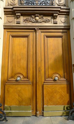 Wood and Gold Door