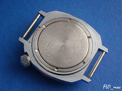 Boctok Komandirskie with crown at 2 o'clock: back side (FLO_mac ) Tags: tank vostok boctok wostok komandirskie