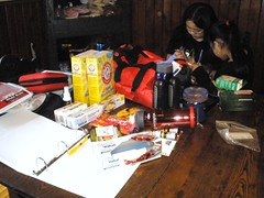 Making Emergency Bags (Pictures by Ann) Tags: family bag fire natural flood hurricane safety disaster goto safe bags items emergency tornado important prepare checklist preparedness valuable grabbag savetime