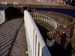 Canal wharf Chester May 2010 (DizDiz) Tags: uk england cheshire path streetphotography railings thomastelford industrialheritage olympusc720uz circularwall