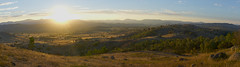 Canberra Country (RobMacPhotography) Tags: canberra act australia mt arawang fields farm hills mountains sunset rays bullen ranges golden gold rolling view sony a6000 panorama landscape country clouds sky nature