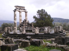 Greece 07 #38 (tt64jp) Tags: history archaeology greek temple oracle ancient ruins europe european religion delphi hellas unesco worldheritagesite greece sacred spiritual athena apollo archeology grce sanctuary remain ancientgreece parnassus tholos   archeologicalsite    lhistoire   pronaia sanctuaryofathenapronaia