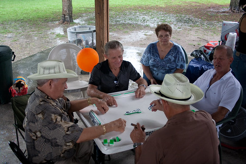A Cuban Party isn't a Party without a game of Dominoes