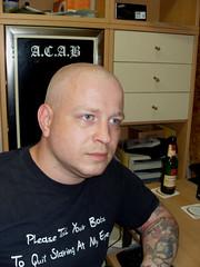skin381 (SkinHH) Tags: leather army skin bald weapon biker shavedhead skinhead