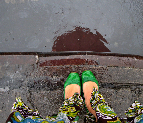 my skirt + New York + rain