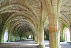 The Cellarium.  Fountains Abbey...North Yorkshire (keithhull) Tags: roof stone darkness noflash historic explore vaulted fountainsabbey frontpage northyorkshire monastic arkade cellarium explorewinnersoftheworld seeninexplore287200923