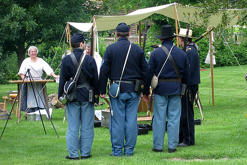 Zoar, Ohio Harvest Festival 2009:  Civil War reinactors.