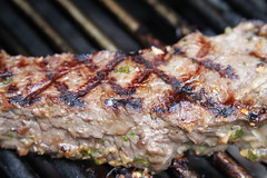Rachael Ray's Delmonico steaks with balsamic onions and steak sauce