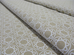Delft in white on natural (Bianca van Meeuwen) Tags: fabric textiles yardage handprinted patterndesign
